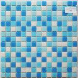 Mosaico de vidrio azul para la decoración de la piscina piscina mosaico