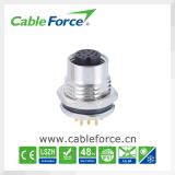 Женский электрический соединитель установки фронта панели M12 с PCB контактирует разъем шифратора