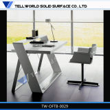 최신 판매 대리석 돌 자유로운 서 있는 사무실 책상 컴퓨터 테이블