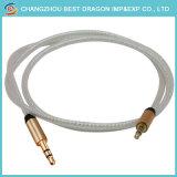 Высокое качество золотой металлическую заглушку 3,5 мм Разъем - Разъем прозрачный кабель Aux