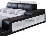 米国式のホーム家具の寝室の革ベッド