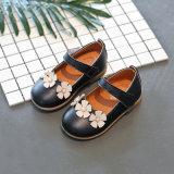 Сладкое принцесса девочек один обувь с малым цветы дети школу для ходьбы обувь