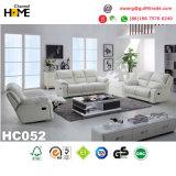 Sofá moderno do Recliner do couro genuíno do preto da mobília (HC036)