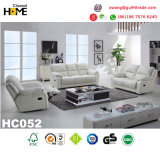 Sofa moderne de Recliner de cuir véritable de noir de meubles (HC036)