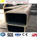 Tubo de acero rectangular soldado carbón del diámetro grande y lado derecho