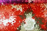 Gedrucktes gestricktes Gewebe-Blumengewebe des Polysamt-2016