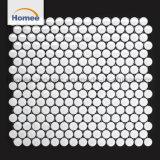 La pared superior embaldosa los azulejos de mosaico de cerámica redondos del penique
