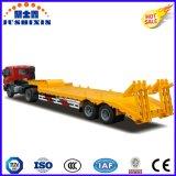 Heavy Duty 3 Ejes 80t Lowbed semirremolque Camión de carga para la venta