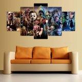 Rache-Segeltuch-Druck-Farbanstrich-Plakat-Wand-Bilderrahmen 5 Stück-Segeltuch-gedruckten Dekoration-Wand-Kunst-Horrorfilm-unsichtbaren Jungen