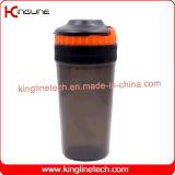bottiglia di plastica dell'agitatore della proteina 550ml con il coperchio (KL-7025)