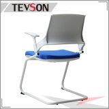 플라스틱 금속 프레임을%s 가진 뒤 회의 의자 직물 시트 방문자 팔 의자