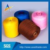 El cono de papel con el hilo de coser blanco sin procesar /Weight es 1.67/Kg