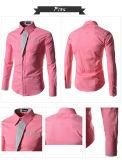새로운 우연한 셔츠 긴 소매 남자 셔츠 임시 업무는 적합을 체중을 줄인다