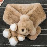 Sciarpa di lavoro a maglia di lusso della pelliccia del coniglio di alta qualità delle donne