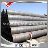 Tubo de acero de carbón, estándar del grado B/ASTM A36/ASTM A252 del API 5L del tubo espiral de acero soldado espiral de Pipe/SSAW para el transporte del petróleo/del gas/del agua o viruta