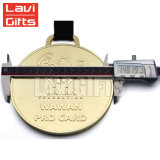 上の販売のロゴのためのカスタム金属のブランクメダルは刻んだ