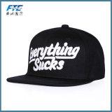 Kundenspezifischer flacher Rand-Hysteresen-Schutzkappen-Stickerei-Baseball-Hut