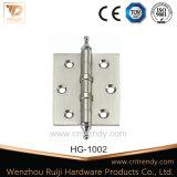 Acessórios da porta, dobradiça lisa da porta de bronze do ouro com 4bb (HG-1014)