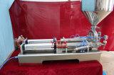 De halfautomatische Dubbele Zalf van Hoofden/Deeg/Room en Vloeibare het Vullen Machine (G2WGD)