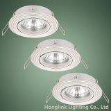 MR16 GU10 LED halógenos o Downlight ajustable de aluminio de China fabricante