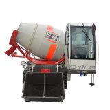 De zelf Vrachtwagen van de Concrete Mixer van de Lading Mobiele/de Concrete Mixer van de Vrachtwagen met Lader 2.6cbm