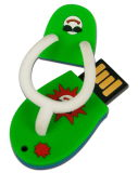 昇進のためのスリッパの形USBのフラッシュ駆動機構PVC USBのディスク