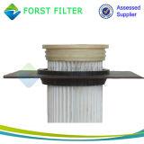 Zak van de Filter van de Inzameling van het Stof van het Cement van de Impuls van de Plooi van Forst de Straal