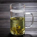 la tasse à mur unique de jus de cuvette de lait en verre de Borosilicate 8oz personnalisent la cuvette de jus