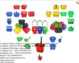 Panier à provisions en plastique neuf à roues de roulement de supermarché