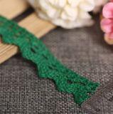 Großhandelsbaumwollbunte Stickerei-Spitze für Kleid