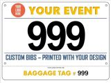 Imperméable Tyvek Marathon de papier imprimé Custom Bike les numéros de bib