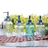 Bouteille de verre gros bocal de savon liquide de lavage des mains pour salle de bains