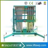 aufrechte Arbeits-Aufzug-Plattformen kleines Manlift der Aluminiumlegierung-10m mit Cer