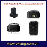 GPS IP65 1080Pの身につけられる警察のボディによって身に着けられているビデオ・カメラで構築される140度の広角
