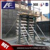 Sistema de paredes de retenção de alumínio descofragem
