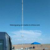 Tour en acier de trellis de câble de haubanage de télécommunication