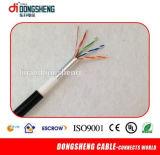 耐火性ケーブル1000FT 0.57mm 23AWGのための工場供給ケーブル4つのペアのUTP CAT6