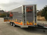 La vente normale de déplacement de rue de feuilleté de maïs de crême glacée de Franch de neige fondue transporte en charrette la cuisine Van de caravane