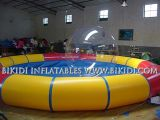 China Inflatable Pools Supplier, New 2015 Design Giant Inflatable Pool mit Top Cover Roof für Different Water Games