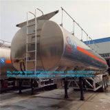 Depósito de aluminio de 3ejes remolque semi remolque del depósito de combustible del depósito de aluminio Trailer
