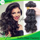 卸し売りボディ波の100%年のバージンの人間の毛髪の加工されていないブラジルの毛