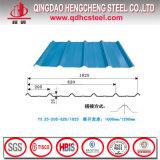Tôle d'acier ondulée galvanisée enduite d'une première couche de peinture pour la toiture