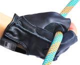 Перчатки черной кожи коровы Fingerless для напольного спорта