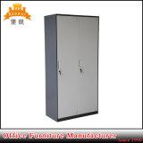 Jas-024は端の人員のロッカーの記憶の食器棚の鋼鉄金属のワードローブのキャビネット2のドアを薄くする