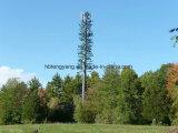 Stahlgefäß getarnter Baum-Aufsatz für Telekommunikation