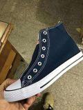 Полотно обувь для мужчин и женщин, высокого каблука Canvas обувь, Резиновые башмаки