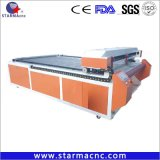 Tela de paño de CO2 automática Máquina de corte láser 1610 1325 (cabezal único o doble cabeza)