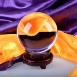 Trasparent Crystal Glass Ball con Wooden Base o Crystal Base