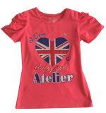 Ropa del bebé de la muchacha de flor de la manera en camiseta de los cabritos de los niños con Printingsgt-080