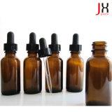 Bottiglia di vetro di vetro del Brown della bottiglia di olio essenziale dell'ambra della bottiglia del contagoccia